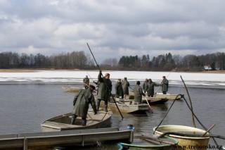 Jarní výlov 2018: rybník Opatovický - fotografie