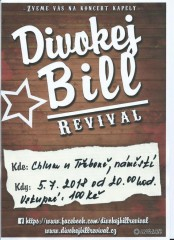 Koncert Divokej Bill revival  v Chlumu u Třeboně