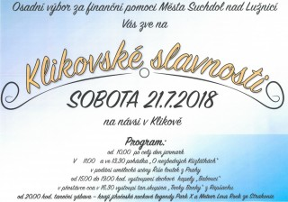Klikovské slavnosti 2018