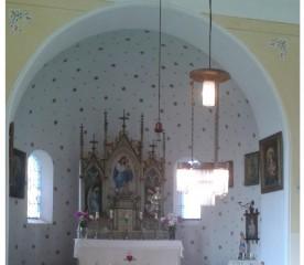 Interiér klikovské kaple