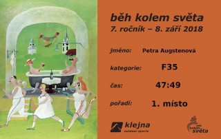 Diplom za 1. místo pro nejrychlejší ženu u Světa!