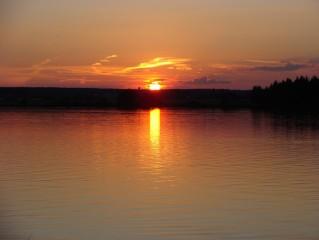 západ slunce 9.9. v 19:26