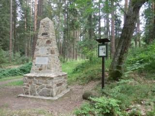 Obelisk k výročí svatby Adolfa Schwarzenberga a Idy