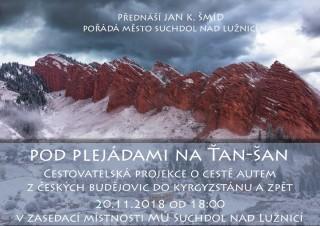 Cestovatelská přednáška J. K. Šmída v Suchdole nad Lužinící
