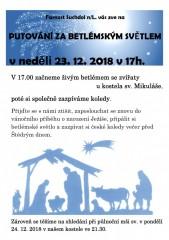 Putování za betlémským světlem 2018