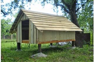 Dřevěný stan