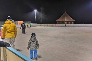 Zimní kluziště v Třeboni - zima 2018 / 2019