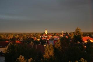 věž třeboňského kostela