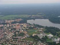 Nad Třeboní: video z balonu