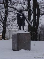 Socha Jakuba Krčína z Jelčan na hrázi Světa