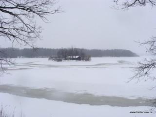 Rybník Svět v zimě
