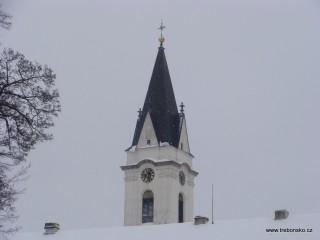 Věž kostela P. M. Královny a sv. Jiljí