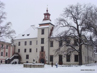 Zámek Třeboň v zimě