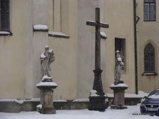 Detail třeboňského děkanského kostela (Husova ulice)