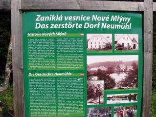 Panel o zaniklé obci Nové Mlýny