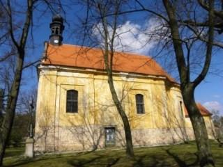 Poutní mariánský kostel v Mláce